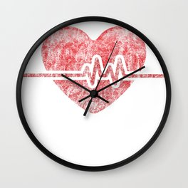 It's a Beautiful Day to Save Lives EKG heart Wall Clock