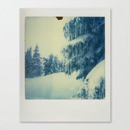 Mt Hood Snow - Polaroid Canvas Print