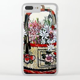 """""""Basket of Flannel Flowers"""" by Margaret Preston Clear iPhone Case"""