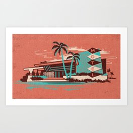 PALM SPRINGS MOTEL Art Print