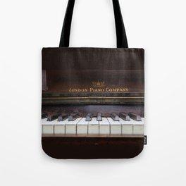Piano keys Old antique vintage music instrument Tote Bag