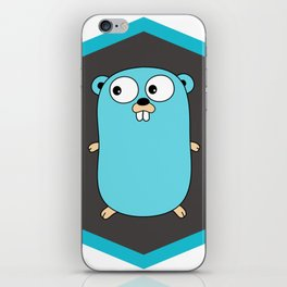 Golang Go cute Squirrel baby programming Mouse sticker iPhone Skin