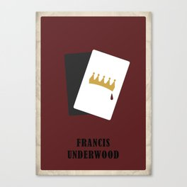 House of Cards - Frank Canvas Print