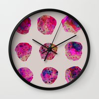 georgiana paraschiv Wall Clocks featuring Variations by Georgiana Paraschiv
