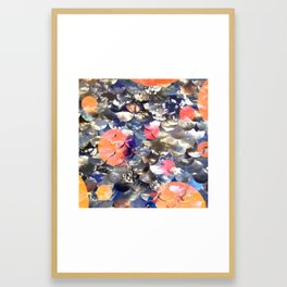 overlapping clouds Framed Art Print