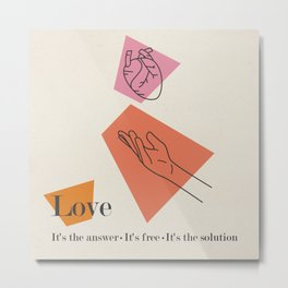 Love: Sixties Metal Print