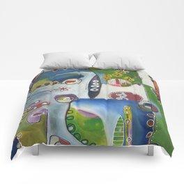 Suburban Maze Comforters