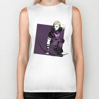 clint barton Biker Tanks featuring Clint Barton by The Radioactive Peach