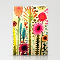 garden Stationery Cards featuring printemps by sylvie demers