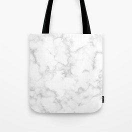 Classic Deep Grey and White Natural Stone Veining Quartz Tote Bag
