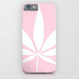 Weed Leaf: High Time Pale Pink White iPhone Case