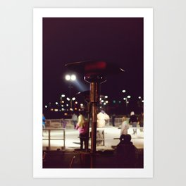 Night out on the Ice Art Print