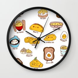 Get eggy with it Wall Clock