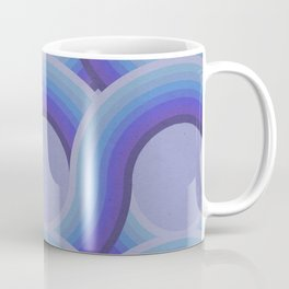 Rollin' Retro Road in Blue Ombre Textured Coffee Mug