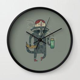 """Raccoon wearing human """"hat"""" Wall Clock"""