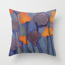 Flowered Atmosphere Throw Pillow