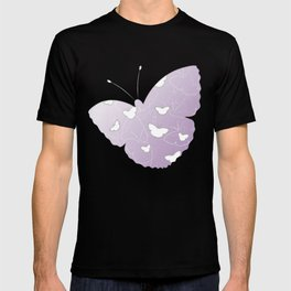 Butterflies | lilac color T-shirt