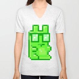 Giant Pixel Gummy Bear Unisex V-Neck