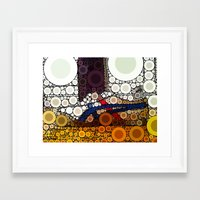 sneakers Framed Art Prints featuring Sneakers by start from scratch