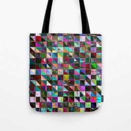 glitch color pattern Tote Bag
