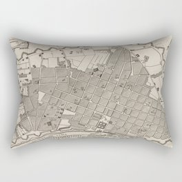 Vintage Map of Lima Peru (1764) Rectangular Pillow