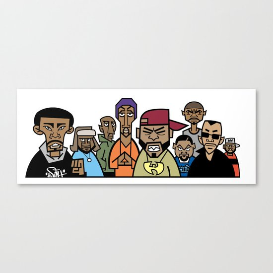 Wu-Tang Clan Caricature Canvas Print