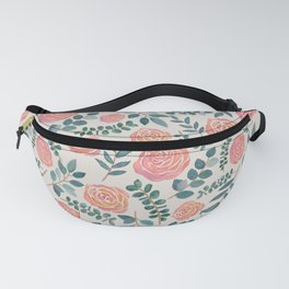 Floral Watercolor Pattern Fanny Pack