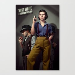 Miss White Canvas Print