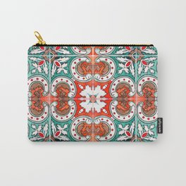 Seamless Floral Pattern Ornamental Tile Design : 7 Carry-All Pouch