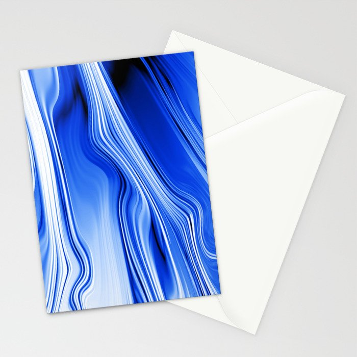 Streaming Blues Stationery Cards