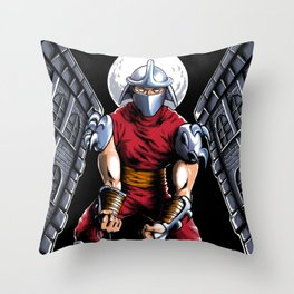 Evil Shredder Throw Pillow