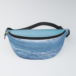 Blue Atlantic Ocean White Cap Waves Clouds in Sky Photograph Fanny Pack