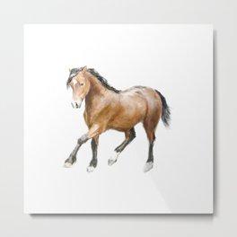 Horse Watercolor Painting Metal Print