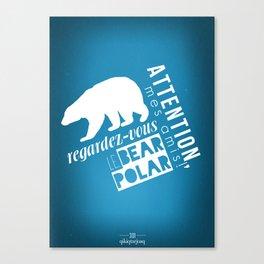 Le Bear Polar Canvas Print