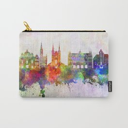 Gdansk skyline in watercolor background Carry-All Pouch