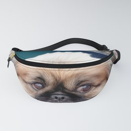 Space Planets and Pekingese Dog Fanny Pack