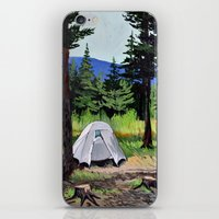 camp iPhone & iPod Skins featuring Camp by Kira Yustak