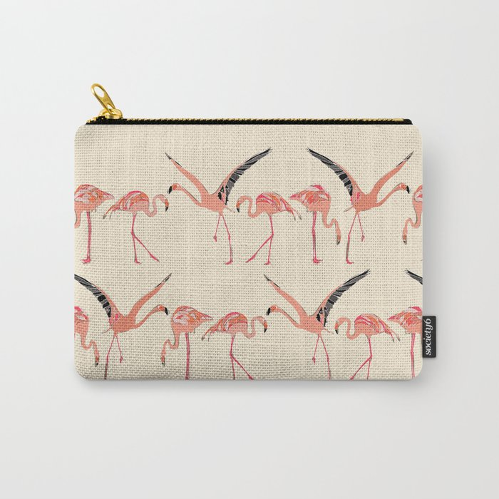 vanilla flamingos Carry-All Pouch
