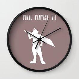 Cloud Strife Silhouette Minimal (White) - Final Fantasy VII Wall Clock
