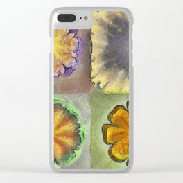 Numbles Coarseness Flower  ID:16165-054216-21980 Clear iPhone Case