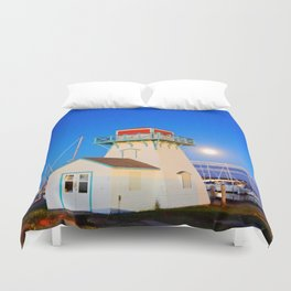 Summerside Harbour lighthouse Duvet Cover