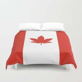 O Canada! (Hemp Flag) Duvet Cover