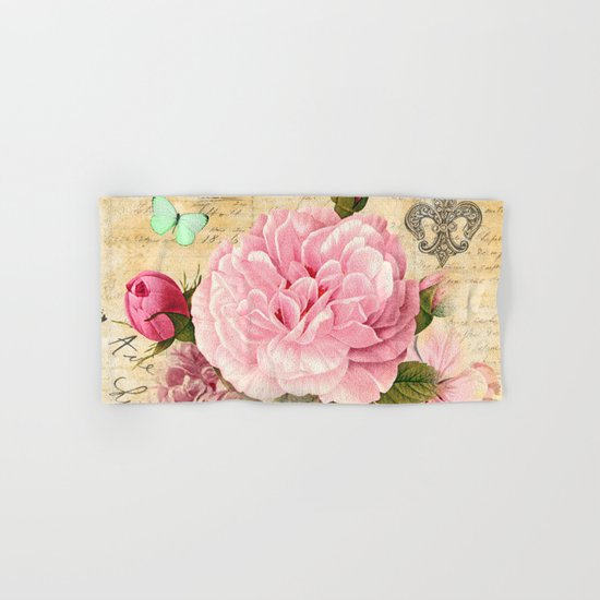 Vintage Flowers #25 Hand & Bath Towel