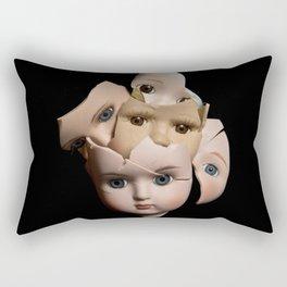 Little Broken Dolly Face - Halloween II Rectangular Pillow
