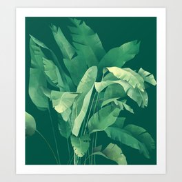 Banana Tree Art Print