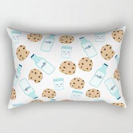 Milk and cookies pattern white cute kids decor boys or girls room design Rectangular Pillow