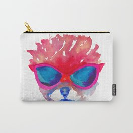 Trimmed Pomeranian in glasses Carry-All Pouch