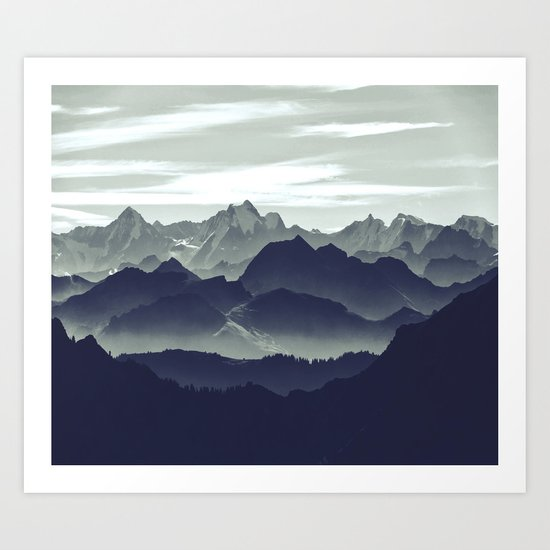 Mountains are calling for us Art Print