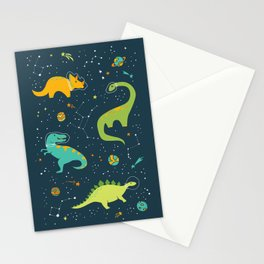 Dinosaur Space Adventure Stationery Cards