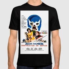 Blue Demon destructor de espias, 1968 (Vintage Movie Poster) T-shirt
